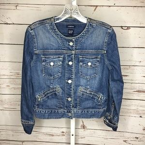 Gap Stretch Womens Button Front Denim Jacket Small